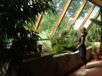 Rivera Sun at home in the earthship house. Photo by Nova Ami