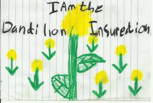 Artwork by Grace Silvermoon after reading The Dandelion Insurrection.