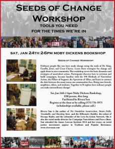 """""""Seeds of Change"""" Workshop in Taos, NM Jan 24th."""