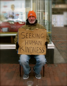 """Seeking human kindness"" by Enver Rahmanov - Own work. Licensed under CC BY-SA 3.0 via Wikimedia Commons - https://commons.wikimedia.org/wiki/File:Seeking_human_kindness.JPG#/media/File:Seeking_human_kindness.JPG"