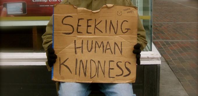 """Seeking human kindness"" by Enver Rahmanov - Own work. Licensed under CC BY-SA 3.0 via Wikimedia Commons - https://commons.wikimedia.org/wiki/File:Seeking_human_kindness.JPG#/media/File:Seeking_human_kindness.JPG"