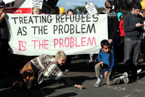 Treating Refugees as the problem is the problem - Refugee Rights Protest at Broadmeadows, Melbourne