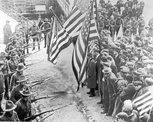 """1912 Lawrence Textile Strike 1"". Licensed under Public Domain via Commons"
