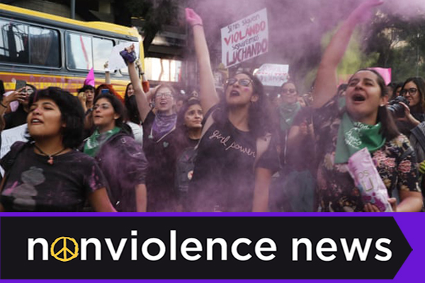 Nonviolence News: Mexico's Glitter Revolution & Reading Beyond Headlines